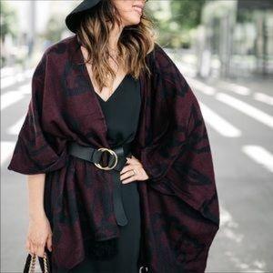 Cleobella Sevigny wrap burgundy and black
